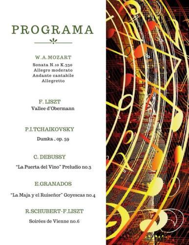 Programa Concierto Daniel Gomez Villarroya